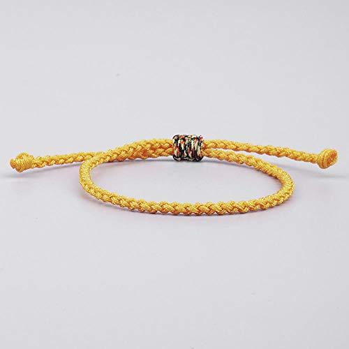 Bracelets Pour Femme,King Kong Tressé À La Main Bracelet Noeud Bouddhiste Tibétain Or Love Lucky Red Bracelets De Corde Pour La Femme Unisexe Bracelets Pour Tous Les Jours, L'Élève Bijoux Bracele