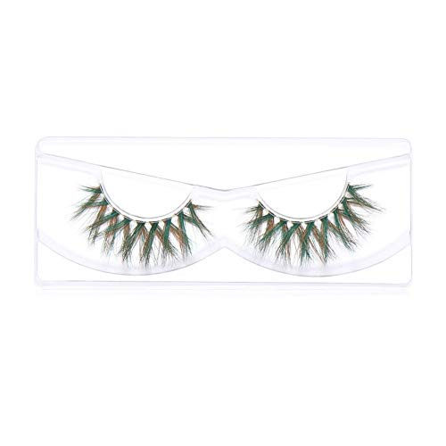 CZYU 1Pair 3D Mink Hair False Eyelashes Colored Fluffy Cosplay Thick Long Wispies Criss-cross Handmade Lash Extension Eye Makeup Tool (Color : 2)