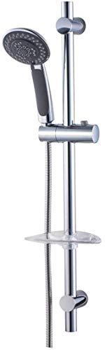 SENSEA - Dusch-Set aus Chrom mit 5 Strahstärken DOCCE - für Dusche und Bad - 1 Duschstange + 1 Seifenhalter + Schlauch + Handbrause
