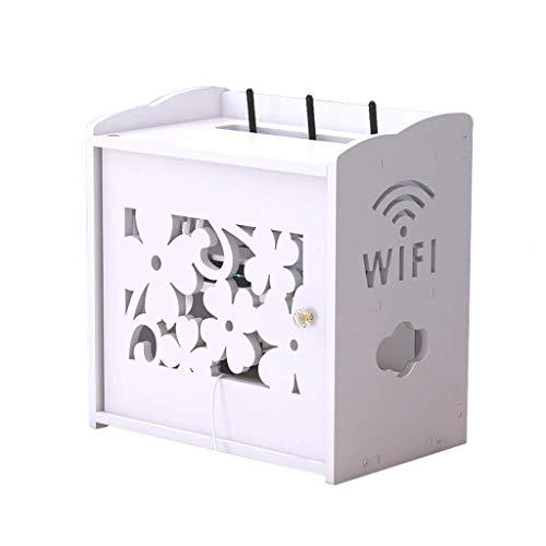 MRZZ draadloze router, creatieve opbergdoos, multifunctioneel, goede decoratie voor huis, woonkamer, televisie, kast, kabelafwerking, aansluitdoos, wit