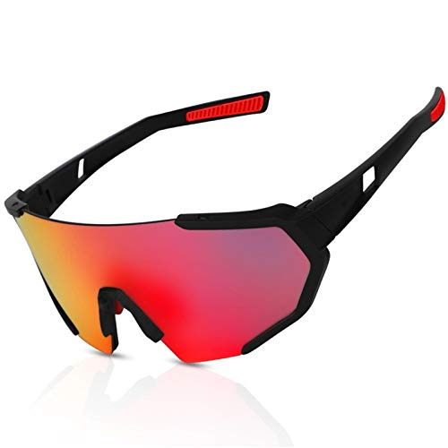 FEW Gafas de sol polarizadas que cambian de color, resistentes al viento, aptas para motos, ciclismo, correr, béisbol, pesca, carreras, golf, esquí y escalada, senderismo, 138 x 135 mm