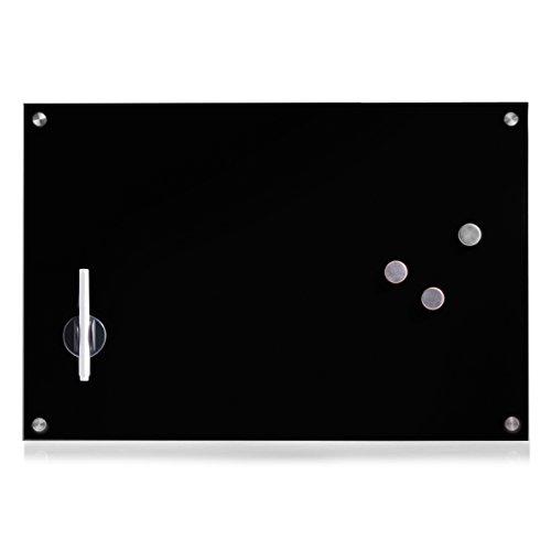 Zeller 11661 Memobord, Glas, schwarz, ca. 60 x 40 x 2 cm