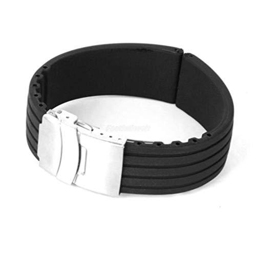 gemius army Black Rubber Silikonarmband Sportuhr 22mm mit Verschluss von TheBigThumb