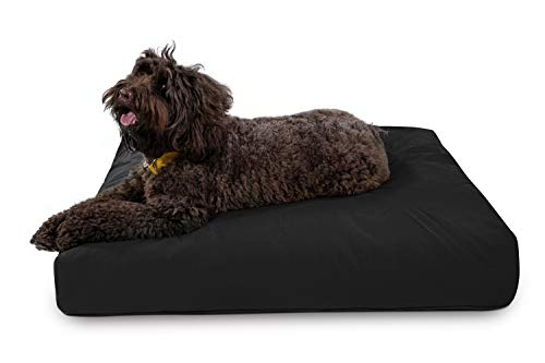 K9 Ballistics Tough Rectangle Nesting Large Dog Bed- Washable, Durable and Waterproof Dog Bed - Made for Big Dogs, 34'x40', Black