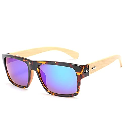 NBJSL Gafas De Sol Tipo Ojo De Gato Para Hombres Y Mujeres, Gafas De Sol Protectoras Uv 400 De Madera (Caja De Embalaje Exquisita)
