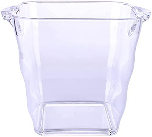 Cubo De Champán Del Cubo De Hielo, Cubo De Hielo, Refrigerador De Vino Champagne Cooler, Cubo De Hielo Acrílico, Fruta De Cocina Y Envase De Vegetales,19.5 * 20 * 13.8