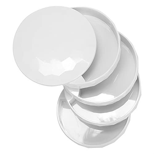Joyero, Caja de Almacenamiento de joyería Simple y de Moda para Guardar Anillos, Pendientes, Pulsera(Blanco)