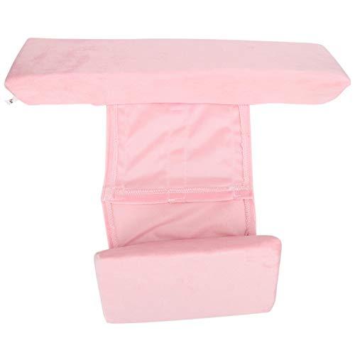 SALUTUYA Cojín de Soporte de Almohada de Leche Anti-escupir para bebés(Triangle Pillow Pink)