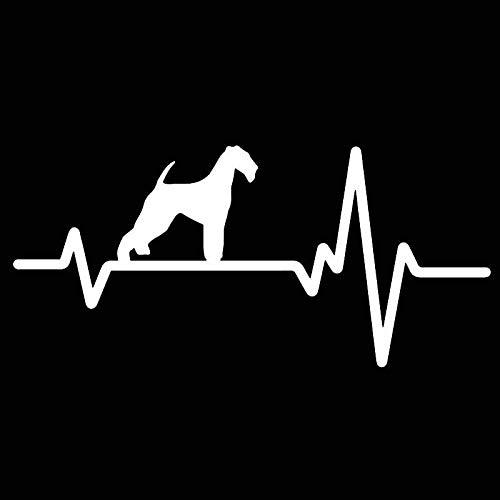 HENJIA Vinilo calcomanía Coche Pegatina Latido del corazón Perro Sabueso Cachorro Mascota 17,9X8,3 CM