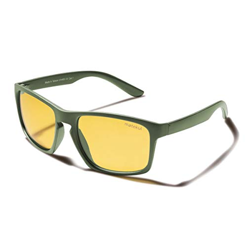 møtekul® NORDIC polarisierte Herren Nachtfahrbrille zum Autofahren I Gelbe Gläser I Blendschutz I Nachtsichtbrille I blockiert Reflexionen bei Dunkelheit, Regen & Nebel I Night vision glasses