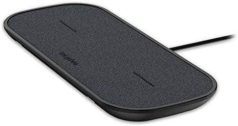 Mophie Almohadilla de Carga inalámbrica Dual – Hecha para Apple Airpods, iPhone XS MAX, iPhone XS, iPhone XR y Otros Dispositivos habilitados para Qi – Negro, 401303594