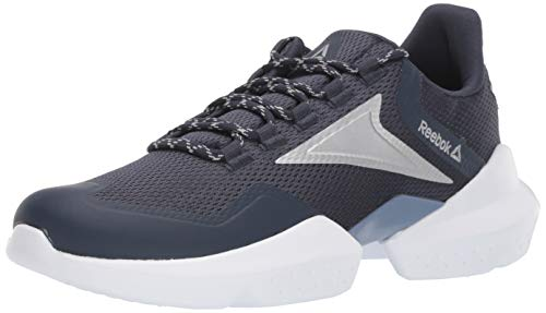 Reebok Women's Split Fuel Running Shoe, Navy/Washed/Silver/White, 11
