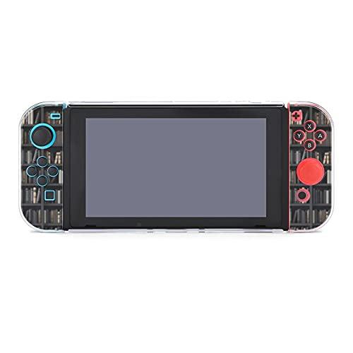 Funda para Nintendo Switch Estanterías en la Biblioteca con Viejos Libros Juego de 5 Piezas Funda Protectora Compatible con Nintendo Switch Game Console