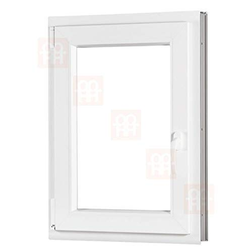 Kunststofffenster | 80x120 cm (800x1200 mm) | weiß | Dreh-Kipp-Fenster | links