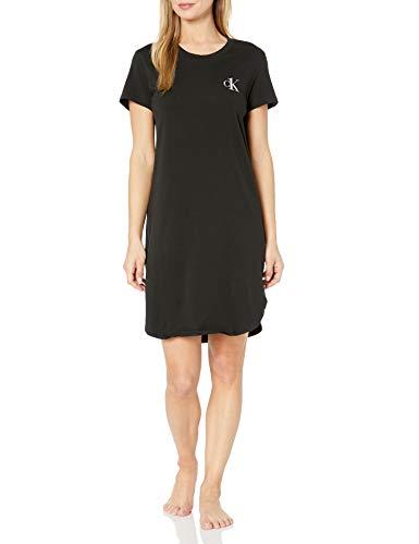 Calvin Klein CK One – Camiseta de Manga Corta de algodón para Mujer, Negro, XS