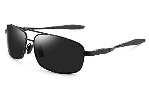 FEISEDY Ultra Lightweight Rectangular Polarized Sunglasses Mens Driving Golf Fishing Sunglasses B2443