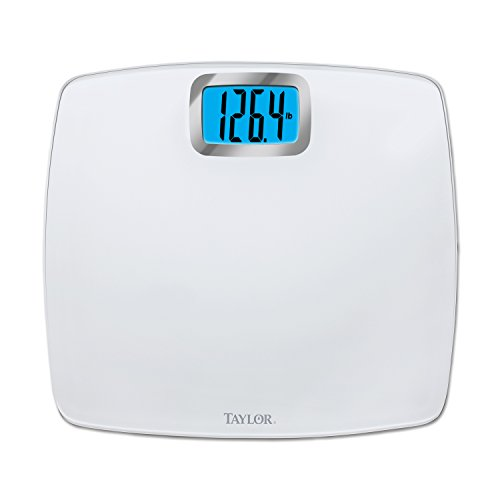Taylor Digital 440lb Capacity Bathroom Scale/Pure White/Glass