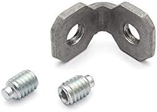 Ángulo interior de acero galvanizado 20 tipo B de ranura 6 incluye tornillos 2 x M4 x 6 DIN 915
