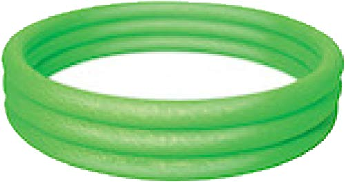 Bestway Planschbecken Kinderpool Pool 3-Ring Embossing (122 x 122 x 25 cm (Grün))