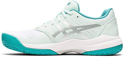 ASICS Womens Gel-Game 7 Clay Tennis Shoe, Bio Mint/Pure Silver,39.5 EU