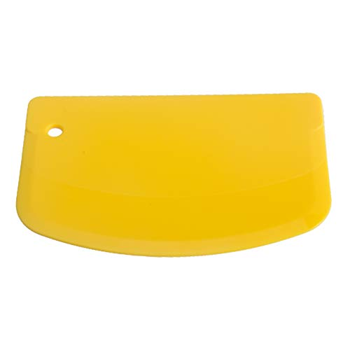 LNIMIKIY Raspador Masa Herramientas repostería Utensilios para Hornear Plástico Flexible Caja Fuerte para espátula Gadgets Cocina Cortador Fondant Borde Curvo Suave