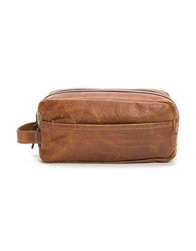 FRYE Men's Logan Large Travel Dopp Kit, Cognac, One Size,Standard