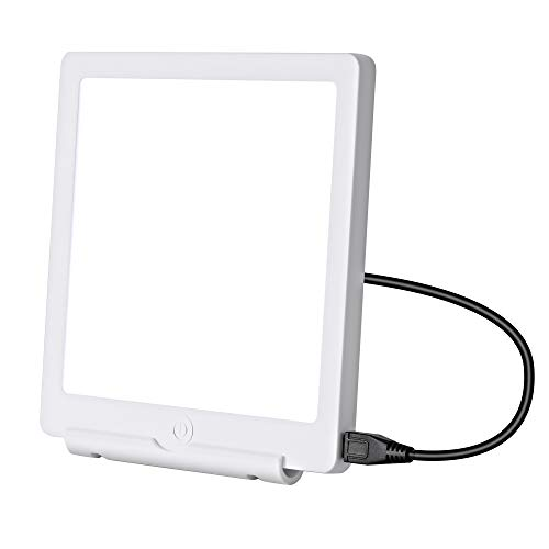 Lampada terapeutica 6000/10.000 Lux di luce bianca brillante con quadrante Lux regolabile, 100% senza raggi UV