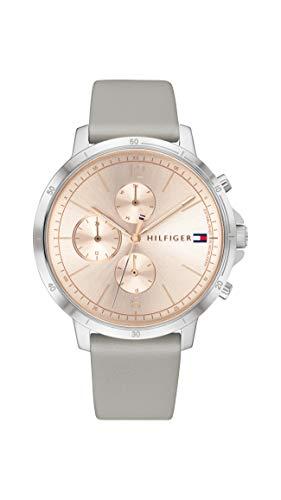 Tommy Hilfiger Dames Analoog Quartz Horloge met Lederen Band 1782191
