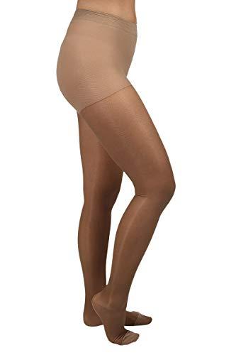 ArmoLine Compression Panty's kousen 20-30 mmHg opengewerkte teen klasse 1 voor zwelling, spataderen, diepe veneuze trombose, zwangerschap vlucht reizen, kantoorwerk XXL Closed Toe