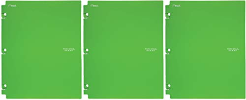 Five Star 2-Pocket Folder, Snap-in Folder, Folders with Pockets, Color Will Vary (35058) 3 Pack