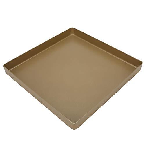 28x28x3cm Backbleche aus Backblech, quadratische Antihaft-Backform aus Aluminiumlegierung mit quadratischer Form Brot Pizza-Backblech-Backwerkzeug zum Backen von Keksen