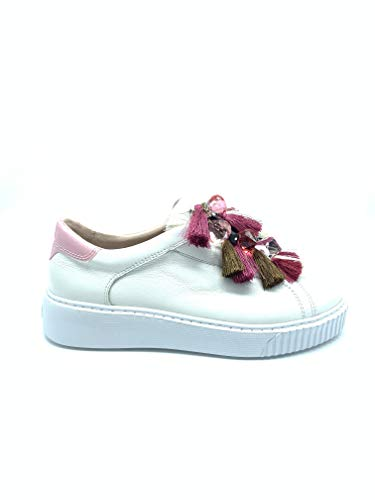 Tosca Blu Camille SS1903S046 Sneakers in Pelle Bianca con ciondoli