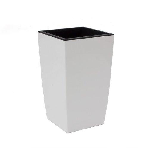 Pot de fleur avec bac d'arrosage Coubi 30L largeur 290 mm carré pur blanc décoration