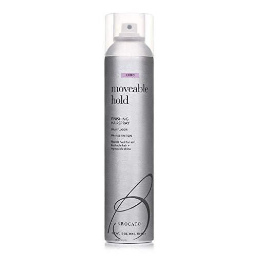 Brocato Moveable Hold Flexible Hairspray by Beautopia Hair: Anti-Humidity UV Protection Finishing Spray - 10 oz