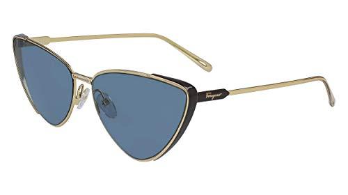 FERRAGAMO SF 206 S 703 - Gafas de sol, color dorado y marrón