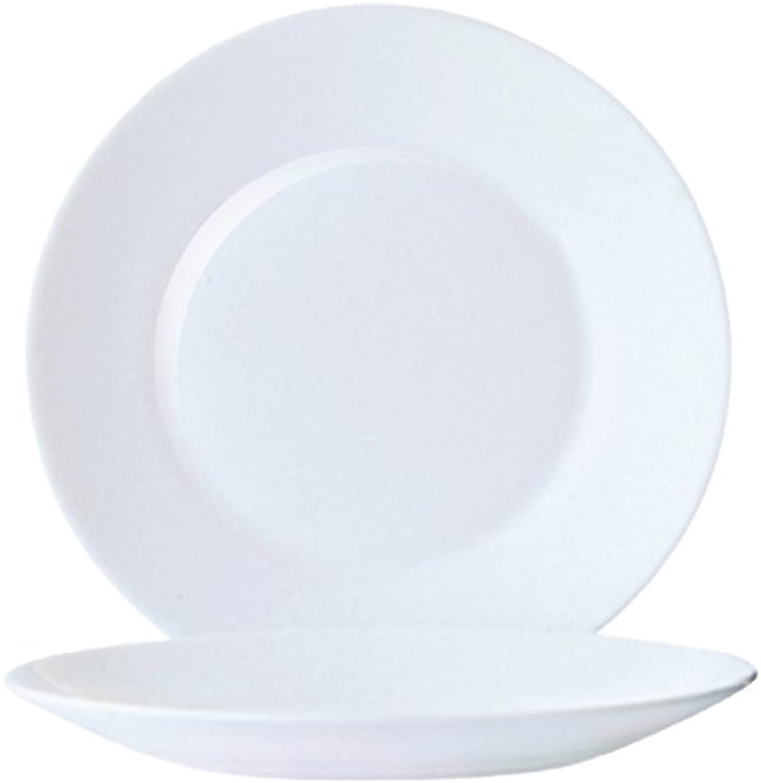 Arcorc Restaurant Uni Assiette Plate 19,5cm, 6 assiette