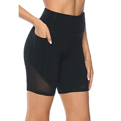Best Deals! Pantalones Cortos De Malla De 8Para Mujer, Entrenamiento De Cintura Alta, Ejercicio De ...
