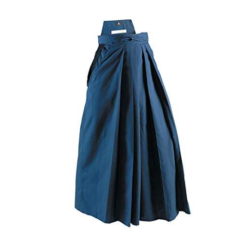 Playwell Deluxe Artes Marciales Kendo/Aikido Hakama Azul Marino - Nuevo - Azul Marino, 25-170cm