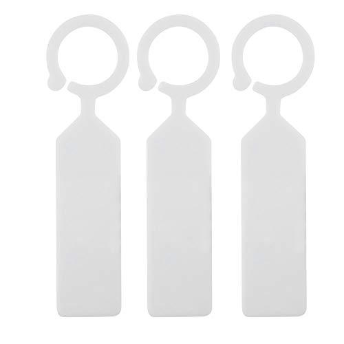 100pcs Étiquettes Marque Plantes Plastique arbre de la plante imperméable Tags jardin en plastique épais étiquettes suspendues Étiquettes de plantes de fleurs(blanc)
