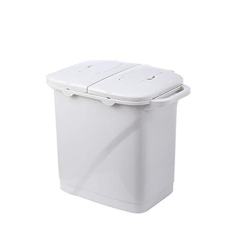 Vuilnisbak LKU Classificatie vuilnisbakken huishoudelijke droge en natte scheidingspedaal classificatie vuilnisbakken op wielen, 30L