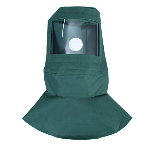 Yarnow Sandstrahlschutzhaube Sicherheitsgesichtsschutz Windschutz Staubschutzkappe Gesichtsschutzschild