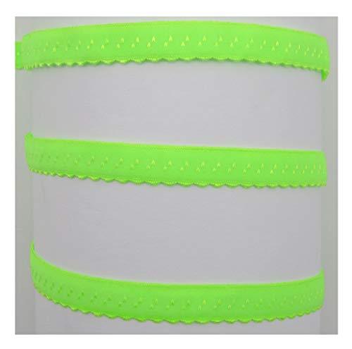 Schrägband elastisch, 12mm, vorgefalzt, Gummi, Elastic, nähen, Meterware, 1meter (neongrün)