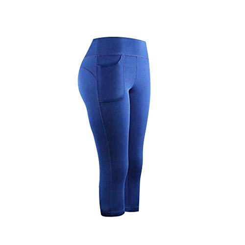 OPALLEY Damen Leggings Lange Yogahose Sporthose Fitnesshose Laufhose 3/4 Training Tights mit Handytasche