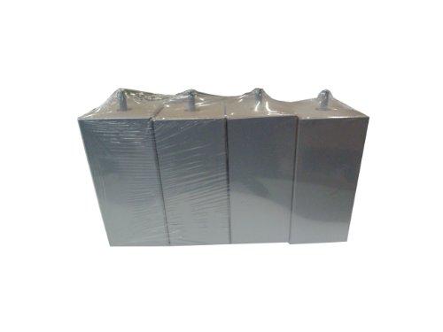 Hévéa Sélection Jeu de 4 Pieds Bois carré Silver 15 cm 70 x 70 PDSCARRE15S