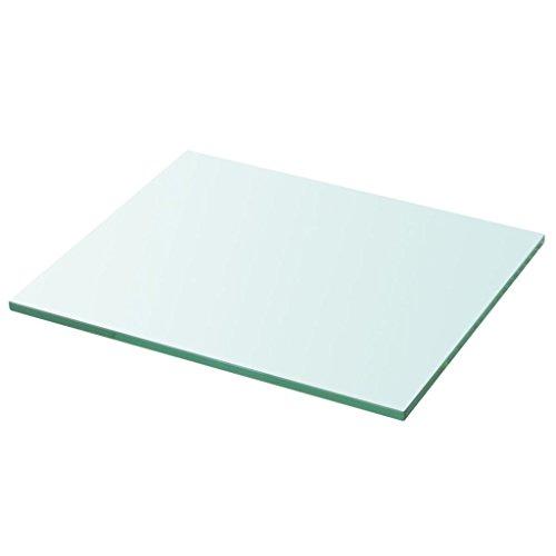 vidaXL Glasboden Glasscheibe Glasplatte für Glasregal Transparent 30 cm x 25 cm