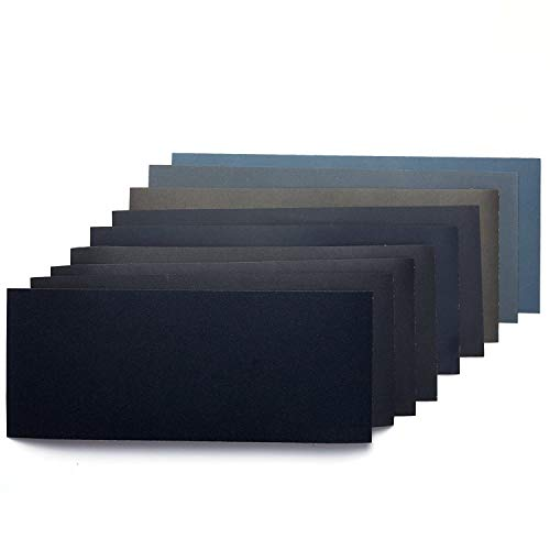 SUBANG 36 Pieces Dry/Wet Waterproof Abrasive Sandpaper, 400 to 3000 Grit, Used for Metal Wood Glass Plastic etc