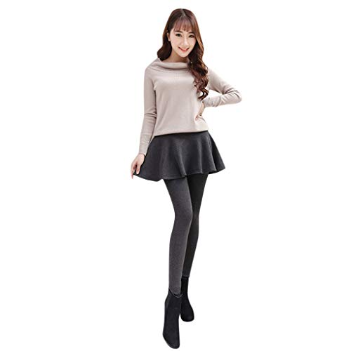 Litale Hosen Damen Leggings Zweiteilig Plissee Minirock Samtgepolsterte Warme Winterhose übergangshose Solid Elegant Gefaltete Culottes Samtimitat Fitnesshose Lang Frauen Sporthose Streetwear