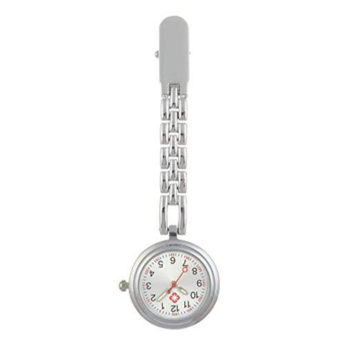 Enfermera Mesa Colgante Mesa Clip Reloj de Pecho Cronómetro Examen con Mesa Colgante Letras Hombre para Mujeres y Hombres