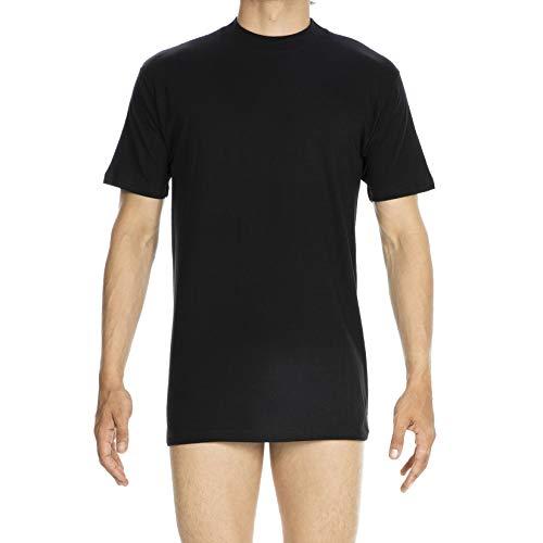 HOM - Para Hombres - Camiseta con Cuello Redondo 'Harro New' - T-Shirt - Black - Tamaño 2XL