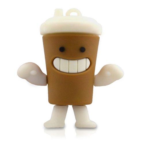 Preisvergleich Produktbild 818-Shop No11500010004 USB-Sticks (4 GB) Kaffee Becher Tee 3D braun